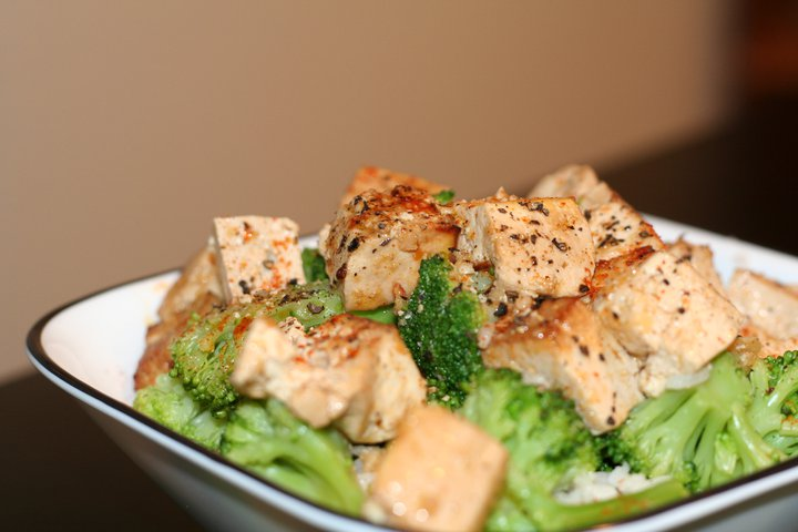 Sesame Soy Oven Baked Tofu