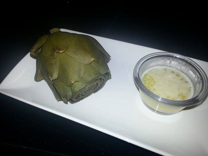 Steamed Artichoke with Garlic Butter