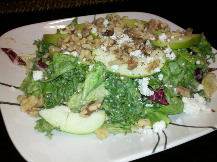 Mixed Greens with Lemon Walnut Dressing